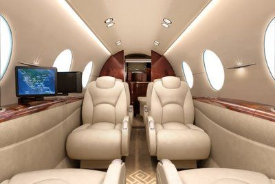 Hawker 400 XP - Comfortably seats 9 passengers