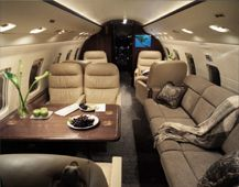 Challenger 604 - Comfortably seats 19 passengers