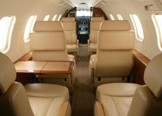 Lear 40 - Comfortably seats 7 passengers