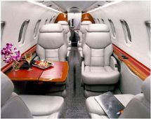 Lear 45 - Comfortably seats 9 passengers