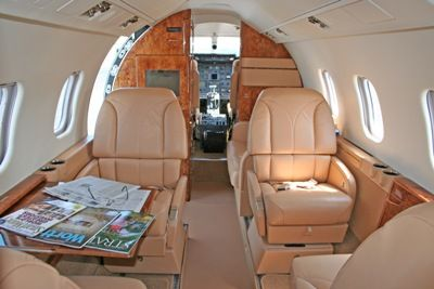 Lear 55 - Comfortably seats 7 passengers