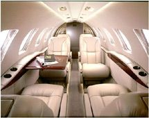 Citation CJ3 - Comfortably seats 7 passengers