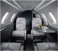 Citation Jet - Comfortably seats 7 passengers