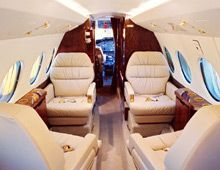 Hawker 700 - Comfortably seats 8 passengers