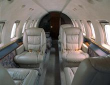 Hawker 800 - Comfortably seats 8 passengers