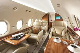 Hawker 900XP - Comfortably seats 9 passengers