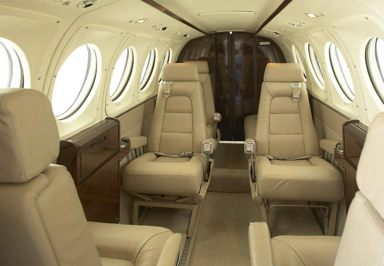 King Air 200 - Comfortably seats 8 passengers