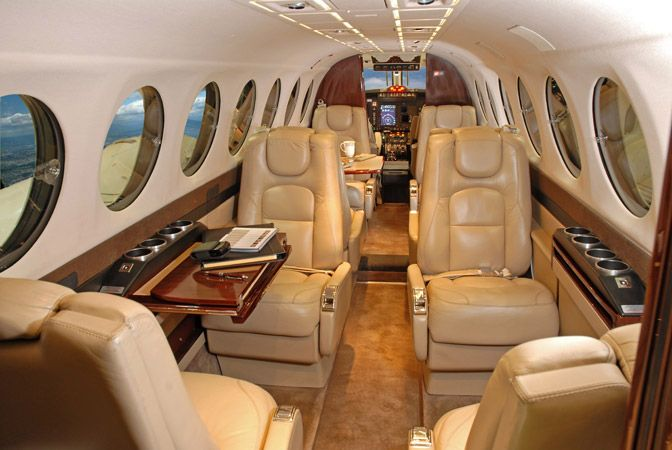 King Air 350 - Comfortably seats 8 passengers