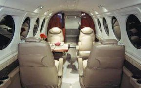 King Air 100 - Comfortably seats 7 passengers