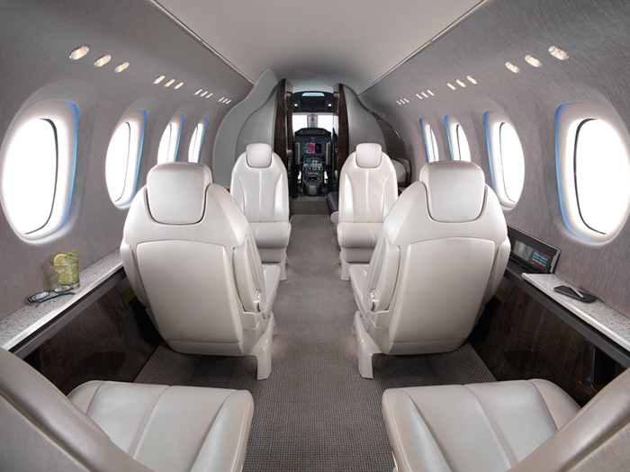 Citation Latitude - Comfortably seats 9 passengers