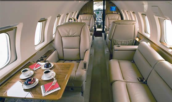 Hawker 1000 - Comfortably seats 9 passengers