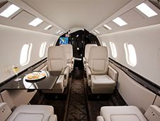 Lear 60XR - Comfortably seats 8 passengers